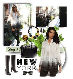 """""""Day 1 in New York"""" by jacque-reid ❤ liked on Polyvore featuring Ray-Ban, Givenchy, Viktoria Hayman, rayban and victoriaHayman"""