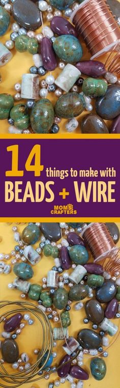 Jewelry Making Supplies 14 things to make with beads and wire - including awesome wire wrapping tutorials and DIY beading and jewelry making tutorials! You'll love these cool beaded wire crafts - super easy ideas for teens too and for beginners. Wire Jewelry Making, Jewelry Making Tutorials, Jewelry Clasps, Jewelry Making Supplies, Wire Wrapped Jewelry, Diy Jewelry, Beaded Jewelry, Jewellery Box, Jewellery Shops
