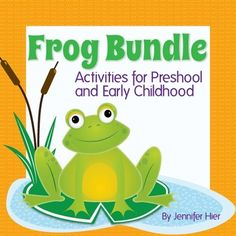Frogs, frogs, frogs!  Would you like some new activities to liven up your pre-k unit on frogs, ponds or spring?  This is a money-saving bundle including 4 of of my frog products plus a bonus.  Activities are appropriate for preschool, kindergarten, homeschool and/or special education classrooms.
