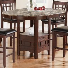 Incroyable Jovan Counter Height Table With Faux Marble Top By Coaster   Coaster   Pub  Table