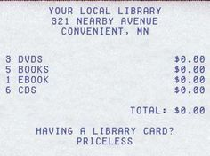 Libraries are the best!