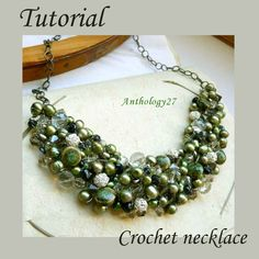 Tutorial on making a wire crochet beaded necklace