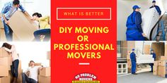 What Is Better: DIY Moving or Professional Movers? Deciding the best way to move is a big decision. Read on to find the biggest pros and cons of a DIY move versus professional movers. Moving Supplies, Packing Supplies, Best Movers, Professional Movers, Junk Removal, Packing To Move, Packers And Movers, Whats Good, How To Protect Yourself