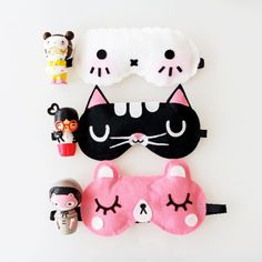 Free kawaii sleeping mask sewing patterns - Momiji
