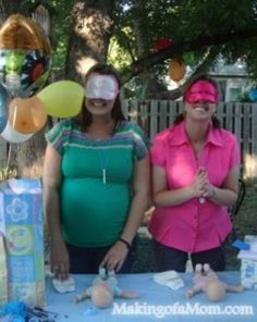 blindfolded diapering