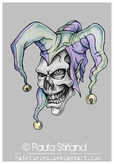 Evil Jester tattoo | Evil Jester by hatefueled... i like the hat of this one