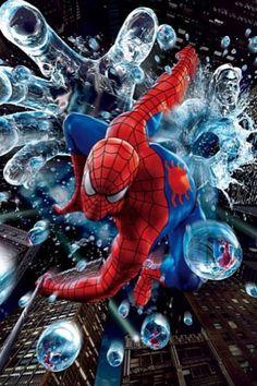#Spiderman #Fan #Art. ( Spiderman versus Hydro ) By: Universal Studios Japan Admission.  (MAJOR ÅWESOMENESS!!!™)  [THANK U 4 PINNING!!]