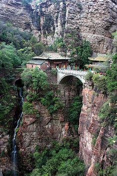 Mount Cangyan in Jingxing County, Hebei Province, China.