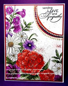 Stamping with Julie Gearinger: JUGS313 Love & Sympathy; Stampin' Up! Card…