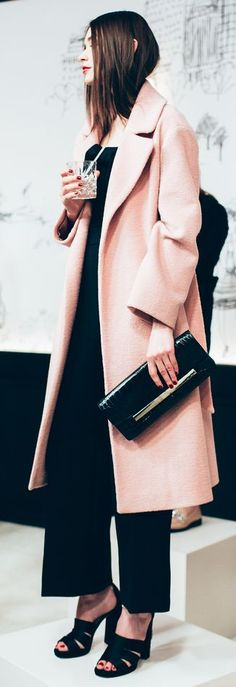 Kate Spade Coral And Black Fall15 Chic Winter Outfit by Happily Grey