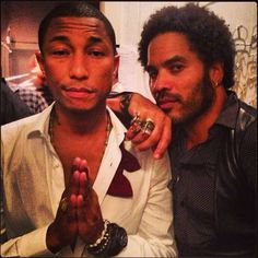 Pharell Williams & Lenny Kravitz:double <3