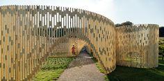 FABRIC's trylletromler pavilion in denmark reinterprets the classical order - designboom | architecture