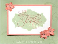 Stampin' Up! Cards - Everything Eleanor, Petite Petals and Million & One stamp sets, Petite Petals Punch and Itty Bitty Accents Punch Pack