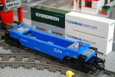 「lego via rail train」的圖片搜尋結果 Lego Train Tracks, Lego City Train, Lego Trains, Lego For Kids, All Lego, Lego Bathroom, Lego Ship, Lego Boards, Rail Car