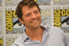 Misha Collins (SDCC 2014) He is to pretty for words