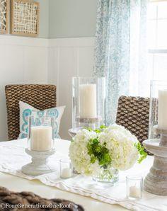 Dining Room Makeover {coastal | Pinterest | Coastal farmhouse ...