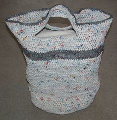 Laundry bag made of plastic bags!!! recycling and upcycling
