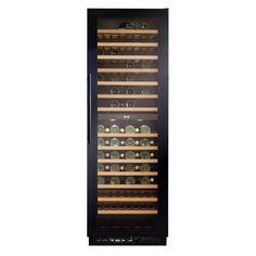 CDA Freestanding Full Height Black Wine Cooler FWC860BL