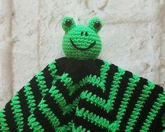 Check out Frog snuggy - Security blanket - Lovey blanket - Baby shower gift - Huggy blanket - Newborn blanket - Frog blanket - Black green frog on bellafarfallaboutiqu