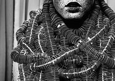 Bea Szenfeld, Swedish designer, Sur la Plage, fashion created from paper