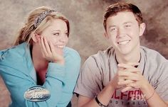 Lauren Alaina and Scotty McCreery... So cute! Wish they would just get together already!!