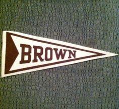 40's-50's Vintage Brown University Mini Felt Pennant