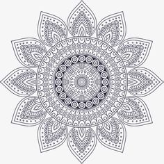 Dark blue Mandala, Vector Png, Decorative Pattern, Religious Pattern PNG and Vector