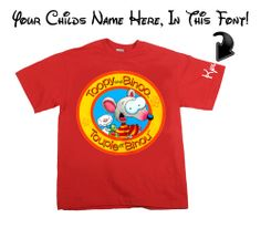 Toopy and Binoo childs T shirt with custom name by TShirtGallery, $16.99