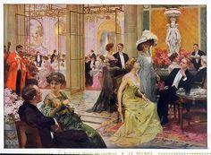 Le Restaurant élégant par excellence Le Meurice - 1910