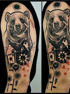 Katarzyna Krutak bear tattoo