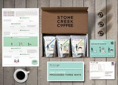 Unique Branding Design, Stone Creek Coffee #Branding #Design (http://www.pinterest.com/aldenchong/)