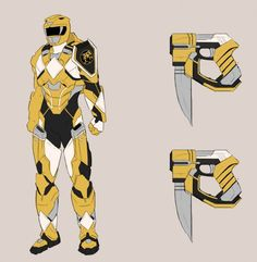 Power Ranger Sentry designs by Jamal Campbell and Saban Brands