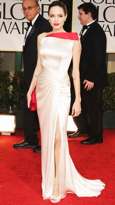 Angelina Jolie's 10 Best Red Carpet Looks Ever - Atelier Versace, 2012 from #InStyle