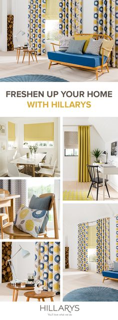 Looking for inspiration for your windows? With bright patterns and fresh designs, your living room, kitchen and home office can come to life. Browse the Hillarys collection for practical ideas and design options.