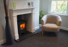 Salisbury wood burning stove - great heat and easy to use - From the showroom to your home