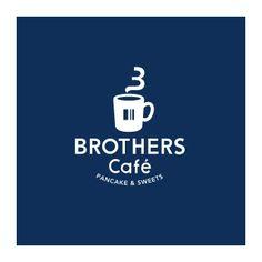 ブラザーズカフェのロゴ:3兄弟のロゴ   ロゴストック