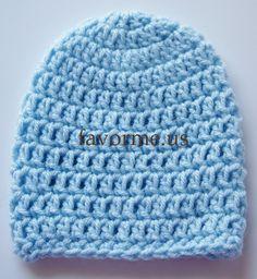 Blue Baby Boy Crocheted Hat