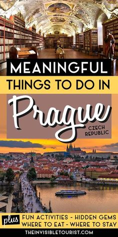 Searching for meaningful things to do in Prague, Czech Republic you haven't heard of before? This Prague travel guide covers hidden gems, interesting finds, where to stay, what to eat and more. Get beneath the surface of the city, avoid crowds and create the perfect Prague itinerary! | The Invisible Tourist Prague Travel Guide, Europe Travel Guide, Travel Guides, European Vacation, European Travel, Best Places To Travel, Cool Places To Visit, Travel Through Europe, South America Travel
