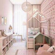 La stanza rosa della ragazza è più indimenticabile.