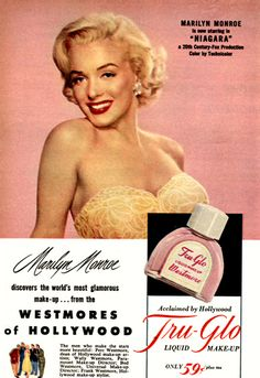 Tru-Glo Marilyn Monroe Niagara 1953 - Mad Men Art: The 1891-1970 Vintage Advertisement Art Collection