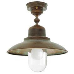 Tuscanor - Brass Porch Flush Light - TUS1357