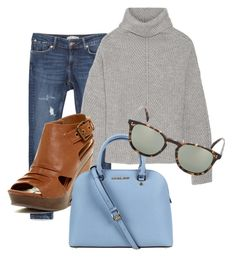 """"" by em02 ❤ liked on Polyvore featuring Zara, Maje, Bucco, Michael Kors and Oliver Peoples"