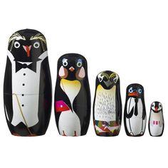 Penguin family Babushka-dukker fra Superliving   Kjøp online!