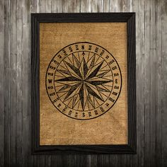 Compass print. Burlap poster. Nautical decor. Maritime print. PLEASE NOTE: this is not actual burlap, this is an art print, the image is printed on