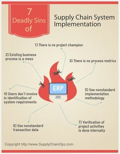 7 Deadly Sins of Supply Chain System Implementation