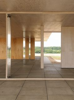 Mies van der Rohe designed this golf clubhouse in 1930 for the countryside surrounding Krefeld, Germany, but it's only just been constructed.