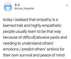 What do you think about it 《Hi. Speaking as someone who tends to be highly empathetic, I can confirm that this is the reason why. At least, it is for me. Writing Tips, Writing Prompts, Trauma, The More You Know, Just For You, Empathetic People, You Found Me, A Silent Voice, Learning To Be