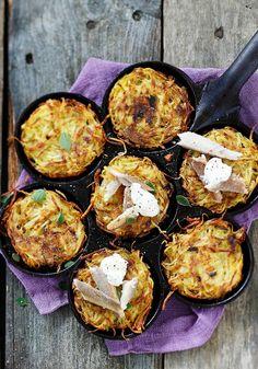 Röstiperunat – katso resepti! | Meillä kotona Side Dishes, Muffin, Goodies, Potatoes, Cooking, Breakfast, Food, Sweet Like Candy, Kitchen