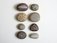 Air and Earth  Collection of 8 Painted Stones by theblackbirdsings, £60.00