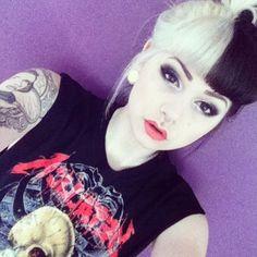 Black. White. Split. Hair. Tattoo. Pretty. Hairstyle. Teen. Girl.